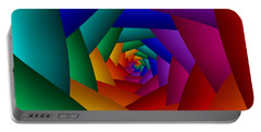 Rainbow Spiral Portable Battery Charger
