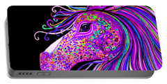 Rainbow Spotted Horse Head 2 Portable Battery Charger