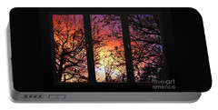 Rainbow Sunset Through Your Window Portable Battery Charger