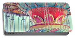 Portable Battery Charger featuring the photograph Rainbow Swings by Melanie Alexandra Price