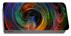 Rainbow Through Curved Air Portable Battery Charger