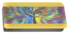 Portable Battery Charger featuring the digital art Rainbow Tree By Kaye Menner by Kaye Menner