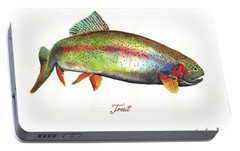 Rainbow Trout Portable Battery Charger by Juan Bosco