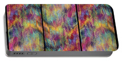 Rainbow Waterfall Triptych Portable Battery Charger