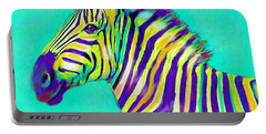 Rainbow Zebra 2013 Portable Battery Charger by Jane Schnetlage