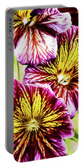 Portable Battery Charger featuring the photograph Rainbow Zebras by Jessica Manelis