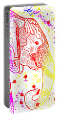Rainbow Zentangle Elephant Portable Battery Charger