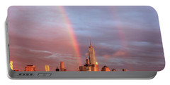 Portable Battery Charger featuring the photograph Rainbows In Nyc by Anthony Fields