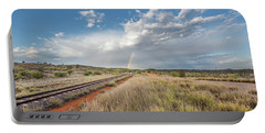Rainbows Over Ghan Tracks Portable Battery Charger