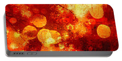 Portable Battery Charger featuring the digital art Raindrops And Bokeh Abstract by Fine Art By Andrew David