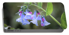 Raindrops On Blue Bells Portable Battery Charger