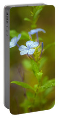 Raindrops On Petals Portable Battery Charger