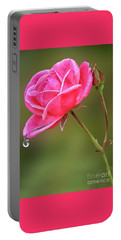Raindrops On Roses Portable Battery Charger
