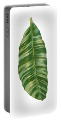Rainforest Resort - Tropical Banana Leaf  Portable Battery Charger