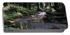 Portable Battery Charger featuring the photograph Rainforest Trail 2 by Sharon Talson