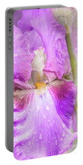 Raindrops On Persian Berry Iris Portable Battery Charger