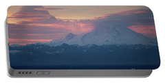 Rainier Lenticular Clouds Sunrise Portable Battery Charger by Mike Reid