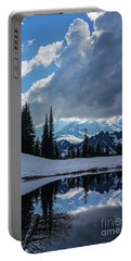 Rainier Reflection Dramatic Skies Portable Battery Charger by Mike Reid