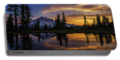 Rainier Sunrise Reflection #2 Portable Battery Charger