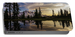 Rainier Sunrise Reflection #3 Portable Battery Charger
