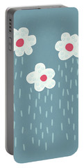 Raining Flowery Clouds Portable Battery Charger