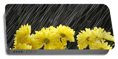 Raining On Yellow Daisies Portable Battery Charger