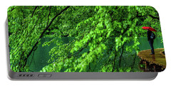 Raining Serenity - Plitvice Lakes National Park, Croatia Portable Battery Charger