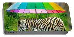 Raining Zebras Portable Battery Charger
