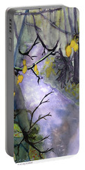 Rainy Day At Glen Eleen Creek  Portable Battery Charger