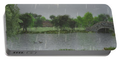 Rainy Day At The Lake Portable Battery Charger by Jayne Wilson