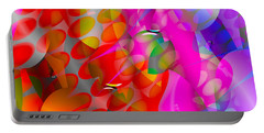 Portable Battery Charger featuring the digital art Rainy Day Girl by Robert Orinski