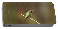 Rainy Day Hummingbird Portable Battery Charger