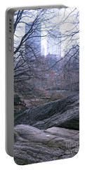 Rainy Day In Central Park Portable Battery Charger by Sandy Moulder