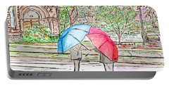 Rainy Day In Downtown Worcester, Ma Portable Battery Charger