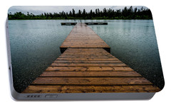 Portable Battery Charger featuring the photograph Rainy Dock by Darcy Michaelchuk
