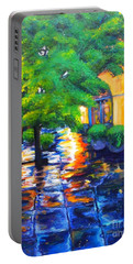 Rainy Dutch Alley Portable Battery Charger