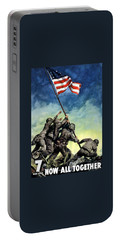 Raising The Flag On Iwo Jima Portable Battery Charger