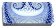 Ram's Horn Blue Portable Battery Charger