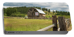 Ranch Fence And Barn With Hex Sign Portable Battery Charger