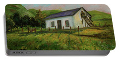 Portable Battery Charger featuring the painting Rancho Higuera Historical Park Fremont California Landscape 15 by Xueling Zou
