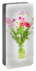 Ranunculus And Anemones Painterly Portable Battery Charger