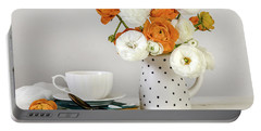 Portable Battery Charger featuring the photograph Ranunculus Bouquet by Kim Hojnacki