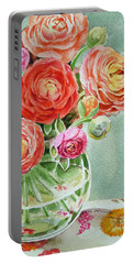 Ranunculus In The Glass Vase Portable Battery Charger