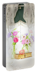 Ranunculus In Window Portable Battery Charger