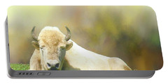 Portable Battery Charger featuring the photograph Rare White Buffalo by Janette Boyd