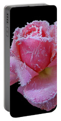Rare Winter Rose Portable Battery Charger