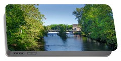 Raritan River - Clinton New Jersey  Portable Battery Charger by Bill Cannon