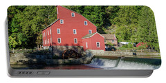 Rariton River And The Red Mill - Clinton New Jersey Portable Battery Charger by Bill Cannon