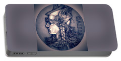 Rasberry Goddess Of Gaul Portable Battery Charger by Fred Larucci