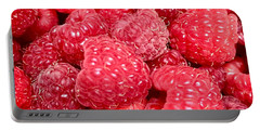 Portable Battery Charger featuring the photograph Raspberries by Cristina Stefan